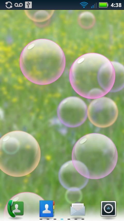 Bubbles Animated Wallpaper- screenshot