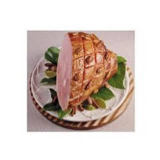 Baked Ham With Spiced Sugar Rub.
