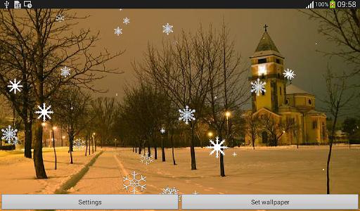 Snow Flakes Live Wallpaper