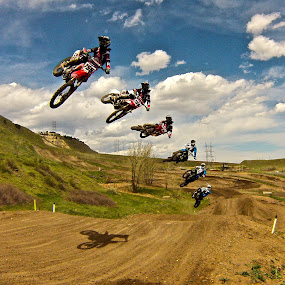 two bursts! by Zachary Zygowicz - Sports & Fitness Motorsports ( motocross, racing, dirtbike, motorcycle, whip )