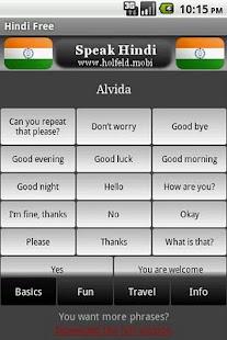 Speak Hindi Free- screenshot thumbnail