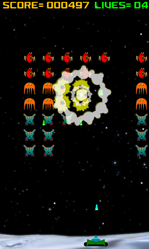 Alien Raiders (Space Invaders) - screenshot