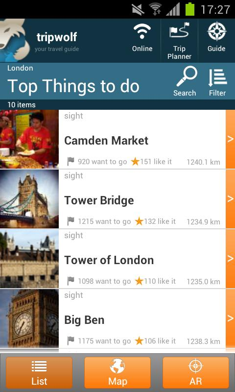 London Travel Guide - screenshot