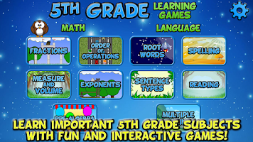 Screenshot of Fifth Grade Learning Games SE
