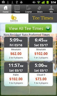 Angel Park Golf Club Tee Times - screenshot thumbnail