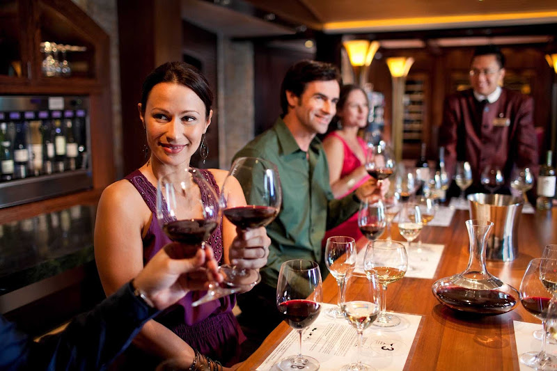 Impress your honey by participating in a tasting hosted by the ship's sommeliers down in Celebrity Silhouette's cellar.
