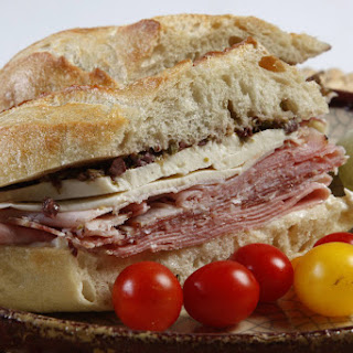 Shady Lane Cafe's New Orleans muffuletta with olive tapenade