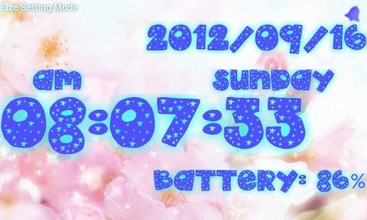 Cute clock battery- screenshot thumbnail