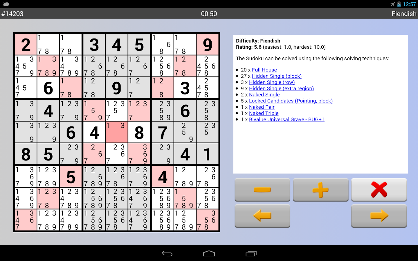 Sudoku 10'000 - screenshot