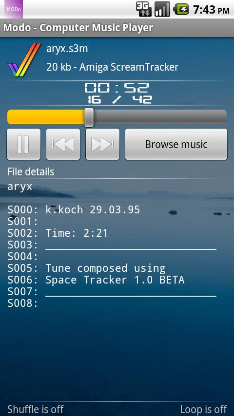 Modo - Computer Music Player - screenshot