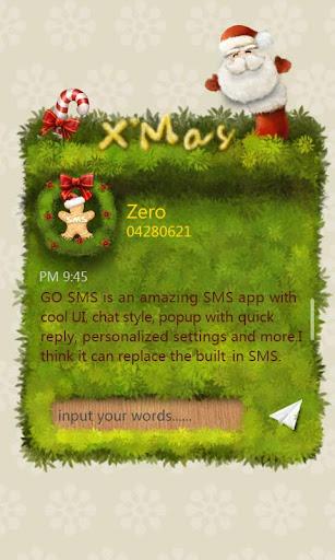 GO短信Pro的ZxMas即显主题