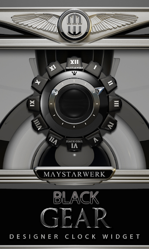 Clock Widget Black Gear