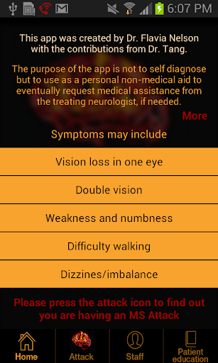 Multiple Sclerosis Attack App