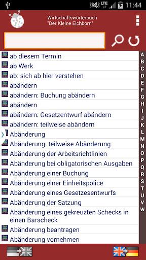 Wirtschaftswörterbuch DE-EN