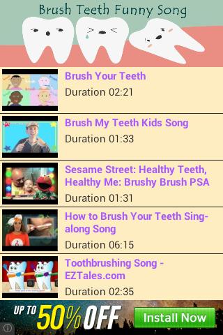 Brush Teeth Funny Song