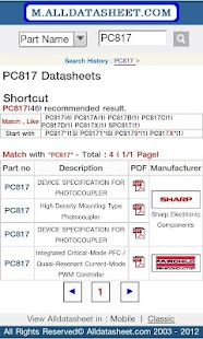 Datasheet (Alldatasheet.com)- screenshot thumbnail