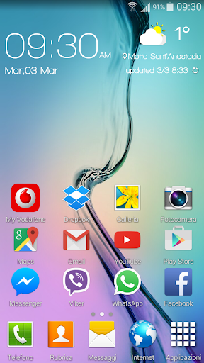 Zooper Widget skin Galaxy S6