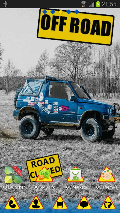 OFF ROAD - GO Launcher Theme- screenshot