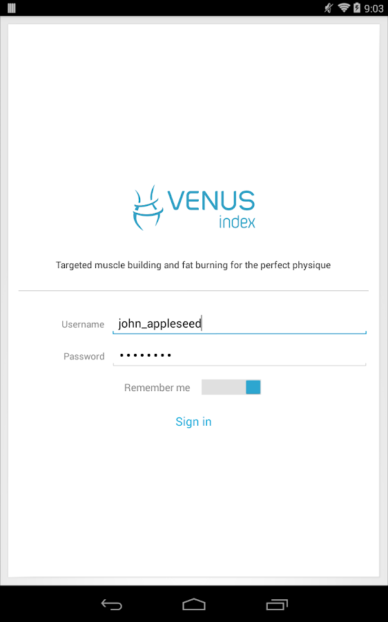 Venus Index Mobile- screenshot