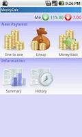 Screenshot of MoneyCalc