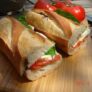 Mozzarella Caprese Sandwich.