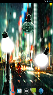 Bulbs In Rain LWP paid- screenshot thumbnail