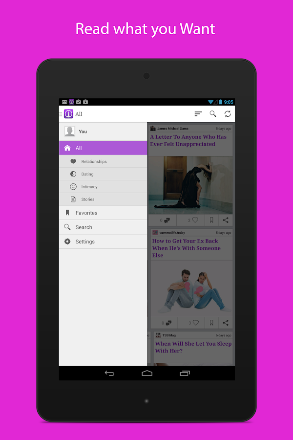 Insites - Inspirational Feeder - screenshot