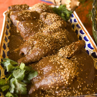 Chicken in Mole, Puebla Style.