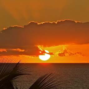 Goodnight Sun by Lori Nordlund - Landscapes Waterscapes