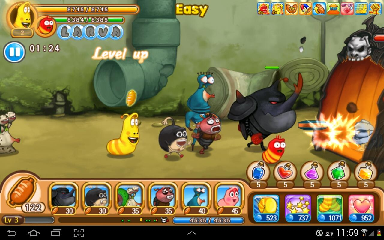 Screenshots of Larva Heroes: Lavengers 2014 for iPhone