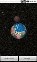 Screenshot of Solar System 3D Wallpaper Lite