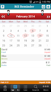 Bill Reminder Expense Tracker- screenshot thumbnail