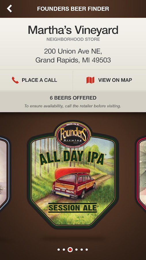Founders Brewing Co.- screenshot