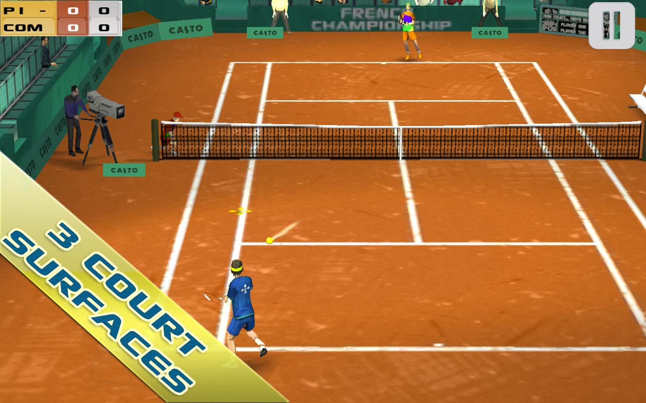 Cross Court Tennis Free - screenshot