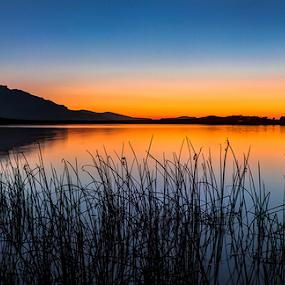 Sunrise at Crystal Waters by Ian Damerell - Landscapes Sunsets & Sunrises ( water, hills, lake, sunrise, landscape, morning )