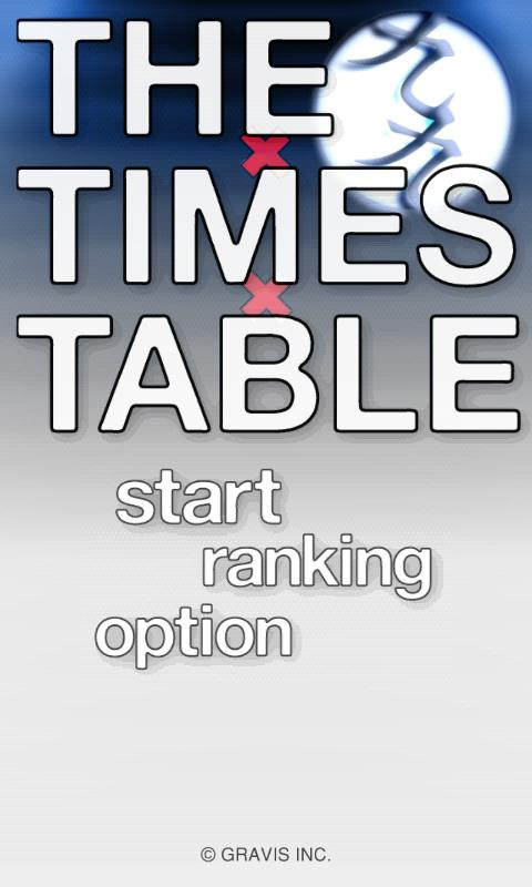 THE TIMES TABLE - screenshot