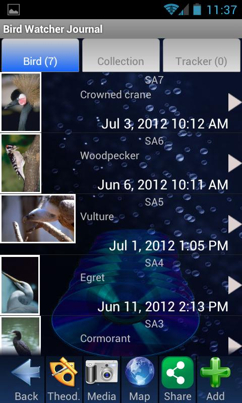 Bird Watching Journal - screenshot