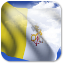 3D Vatican Flag + icon