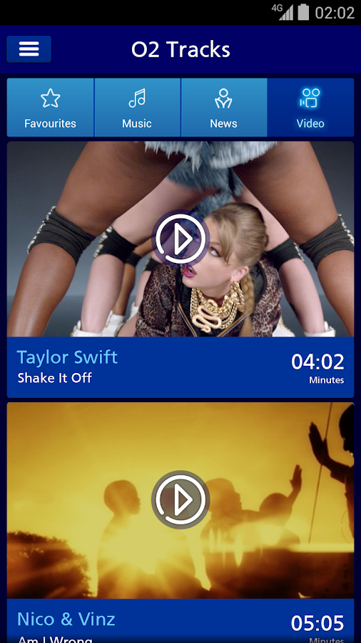 O2 Tracks - Music & Video - screenshot