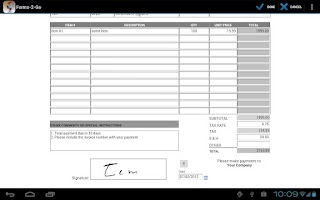 Screenshot of Forms-2-Go HD