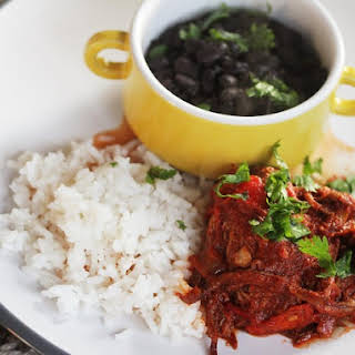 Slow Cooker Ropa Vieja With Black Beans and Rice.