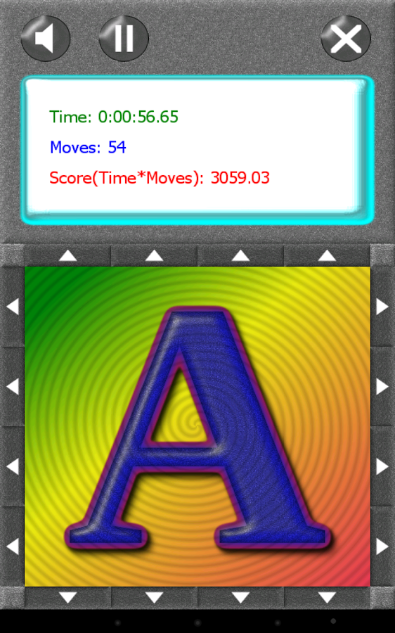 SquareRoll - Alphabet - screenshot