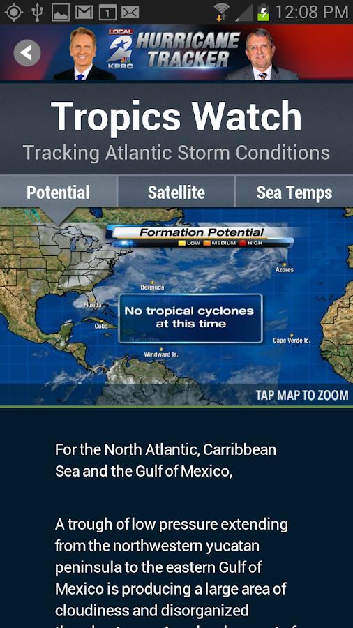 KPRC Local2 Hurricane Tracker - screenshot