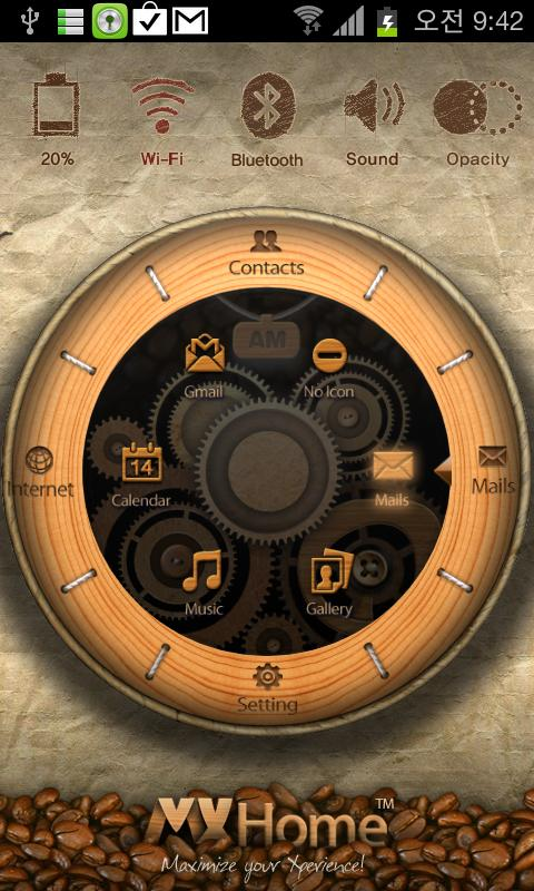 MXHome Coffee Watch Free Theme - screenshot