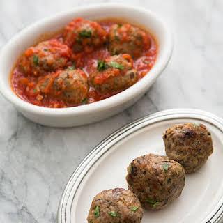Turkey Meatballs with Mushrooms.