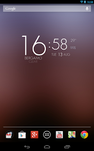 UCCW Theme Elegant HD Clock - screenshot thumbnail