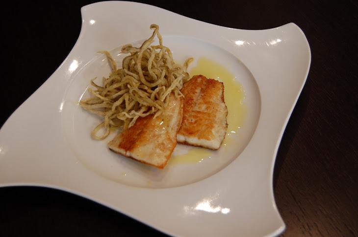 Sea Bass with Crunchy Eel Recipe