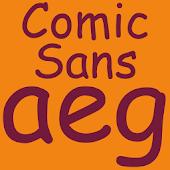 Comic Sans Pro FlipFont