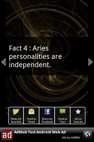 Aries Facts - screenshot