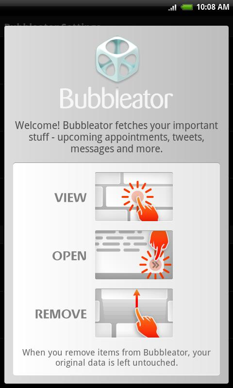 Bubbleator Live Wallpaper - screenshot